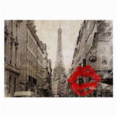 Elegant Red Kiss Love Paris Eiffel Tower Glasses Cloth (large) by chicelegantboutique