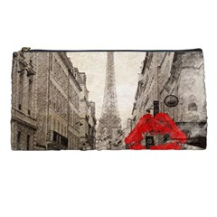 Elegant Red Kiss Love Paris Eiffel Tower Pencil Case