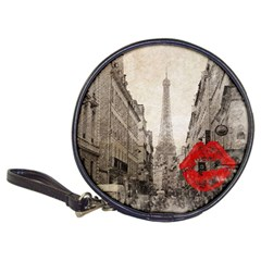 Elegant Red Kiss Love Paris Eiffel Tower Cd Wallet