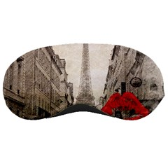 Elegant Red Kiss Love Paris Eiffel Tower Sleeping Mask by chicelegantboutique