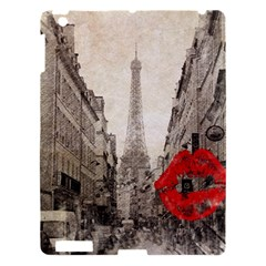 Elegant Red Kiss Love Paris Eiffel Tower Apple Ipad 3/4 Hardshell Case