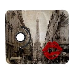 Elegant Red Kiss Love Paris Eiffel Tower Samsung Galaxy S  Iii Flip 360 Case by chicelegantboutique