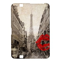 Elegant Red Kiss Love Paris Eiffel Tower Kindle Fire Hd 8 9  Hardshell Case by chicelegantboutique