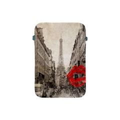 Elegant Red Kiss Love Paris Eiffel Tower Apple Ipad Mini Protective Soft Case by chicelegantboutique
