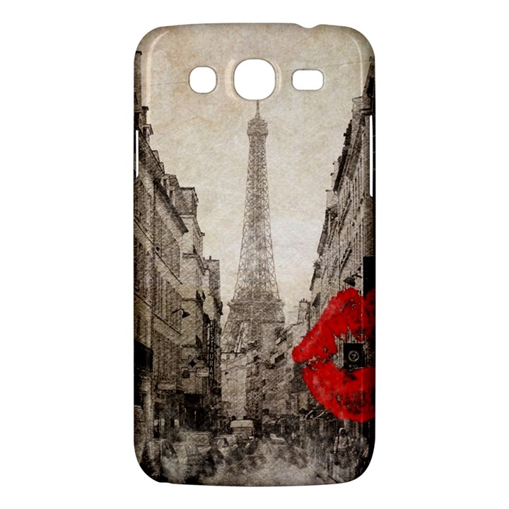 Elegant Red Kiss Love Paris Eiffel Tower Samsung Galaxy Mega 5.8 I9152 Hardshell Case