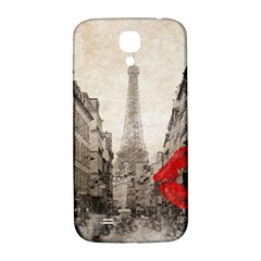 Elegant Red Kiss Love Paris Eiffel Tower Samsung Galaxy S4 I9500/i9505  Hardshell Back Case by chicelegantboutique