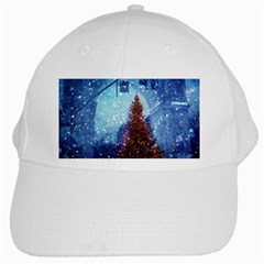 Elegant Winter Snow Flakes Gate Of Victory Paris France White Baseball Cap by chicelegantboutique