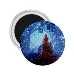 Elegant Winter Snow Flakes Gate Of Victory Paris France 2 25  Button Magnet by chicelegantboutique