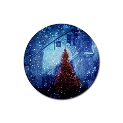Elegant Winter Snow Flakes Gate Of Victory Paris France Drink Coaster (round) by chicelegantboutique