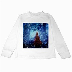 Elegant Winter Snow Flakes Gate Of Victory Paris France Kids Long Sleeve T Shirt by chicelegantboutique
