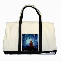 Elegant Winter Snow Flakes Gate Of Victory Paris France Two Toned Tote Bag by chicelegantboutique