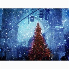 Elegant Winter Snow Flakes Gate Of Victory Paris France Canvas 18  X 24  (unframed)