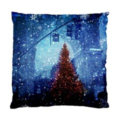Elegant Winter Snow Flakes Gate Of Victory Paris France Cushion Case (two Sided)