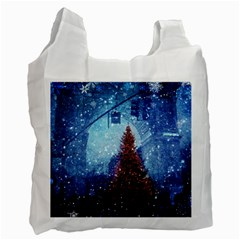 Elegant Winter Snow Flakes Gate Of Victory Paris France Recycle Bag (one Side) by chicelegantboutique