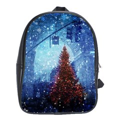 Elegant Winter Snow Flakes Gate Of Victory Paris France School Bag (large) by chicelegantboutique