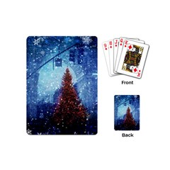 Elegant Winter Snow Flakes Gate Of Victory Paris France Playing Cards (mini)