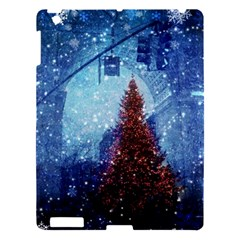 Elegant Winter Snow Flakes Gate Of Victory Paris France Apple Ipad 3/4 Hardshell Case by chicelegantboutique