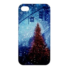 Elegant Winter Snow Flakes Gate Of Victory Paris France Apple Iphone 4/4s Premium Hardshell Case by chicelegantboutique