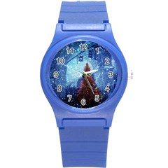 Elegant Winter Snow Flakes Gate Of Victory Paris France Plastic Sport Watch (small) by chicelegantboutique