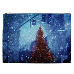 Elegant Winter Snow Flakes Gate Of Victory Paris France Cosmetic Bag (xxl) by chicelegantboutique