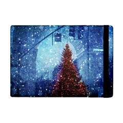 Elegant Winter Snow Flakes Gate Of Victory Paris France Apple Ipad Mini Flip Case by chicelegantboutique
