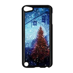 Elegant Winter Snow Flakes Gate Of Victory Paris France Apple Ipod Touch 5 Case (black) by chicelegantboutique