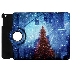 Elegant Winter Snow Flakes Gate Of Victory Paris France Apple Ipad Mini Flip 360 Case by chicelegantboutique