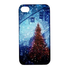 Elegant Winter Snow Flakes Gate Of Victory Paris France Apple Iphone 4/4s Hardshell Case With Stand by chicelegantboutique