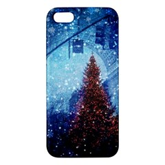 Elegant Winter Snow Flakes Gate Of Victory Paris France Iphone 5 Premium Hardshell Case by chicelegantboutique