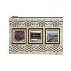 Choc Cosmetic Bag (large) By Deborah   Cosmetic Bag (large)   8rpd9jidtlf0   Www Artscow Com Front
