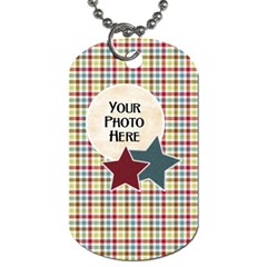 At The Park 2 Sided Dog Tag 1 By Lisa Minor   Dog Tag (two Sides)   Oi5voae21gf1   Www Artscow Com Front