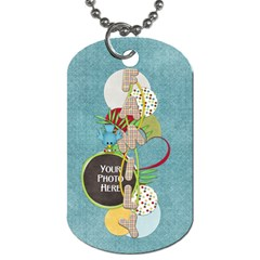 At The Park 2 Sided Dog Tag 2 By Lisa Minor   Dog Tag (two Sides)   L4t48rwtaiq7   Www Artscow Com Front