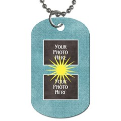 At The Park 2 Sided Dog Tag 2 By Lisa Minor   Dog Tag (two Sides)   L4t48rwtaiq7   Www Artscow Com Back
