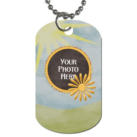 At The Park 1 Sided Dog Tag 2 By Lisa Minor   Dog Tag (one Side)   1z967a73uar7   Www Artscow Com Front