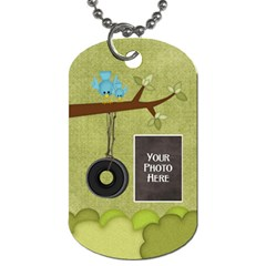 At The Park 2 Sided Dog Tag 2 By Lisa Minor   Dog Tag (two Sides)   8nj31v45hcsw   Www Artscow Com Front