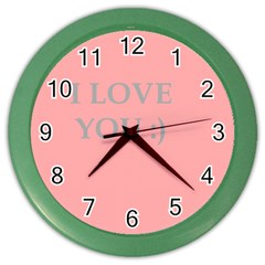 Love Wall Clock (Color) by Contest1610304