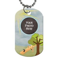 At The Park 2 Sided Dog Tag 1 By Lisa Minor   Dog Tag (two Sides)   C8nz8j5ztykr   Www Artscow Com Front