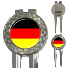 GERMANY FLAG  3-in-1 Golf Divot by Brenco