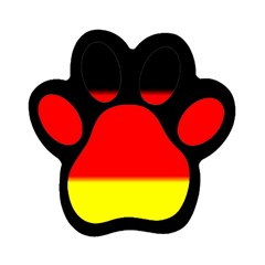 GERMANY FLAG  Magnet (Paw Print) by Brenco