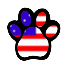 usa flag Magnet (Paw Print) by Brenco