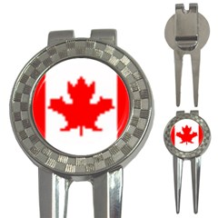 canada flag 3-in-1 Golf Divot by Brenco