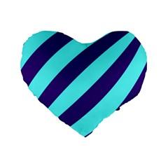Purple Waves 16  Premium Heart Shape Cushion  by colourconnectors