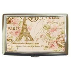 Floral Eiffel Tower Vintage French Paris Art Cigarette Money Case