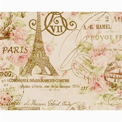 Floral Eiffel Tower Vintage French Paris Art Canvas 16  X 20  (unframed) by chicelegantboutique