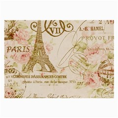 Floral Eiffel Tower Vintage French Paris Art Glasses Cloth (large) by chicelegantboutique