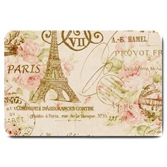 Floral Eiffel Tower Vintage French Paris Art Large Door Mat by chicelegantboutique