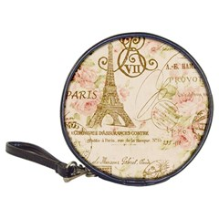 Floral Eiffel Tower Vintage French Paris Art Cd Wallet by chicelegantboutique