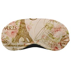 Floral Eiffel Tower Vintage French Paris Art Sleeping Mask by chicelegantboutique