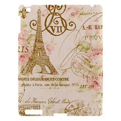 Floral Eiffel Tower Vintage French Paris Art Apple Ipad 3/4 Hardshell Case by chicelegantboutique