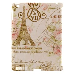 Floral Eiffel Tower Vintage French Paris Art Apple Ipad 3/4 Hardshell Case (compatible With Smart Cover) by chicelegantboutique